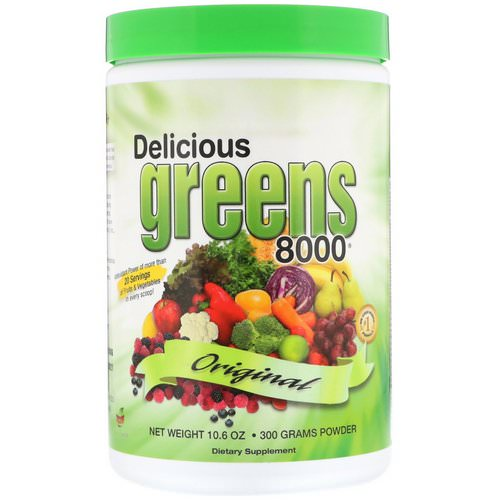 Greens World, Delicious Greens 8000, Original, 10.6 oz (300 g) Powder فوائد