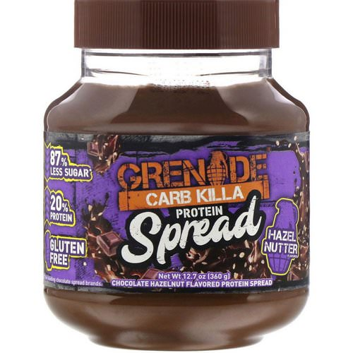 Grenade, Carb Killa Protein Spread, Chocolate Hazelnut Flavor, 12.7 oz (360 g) فوائد