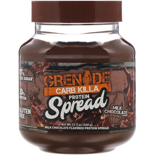 Grenade, Carb Killa Protein Spread, Milk Chocolate, 12.7 oz (360 g) فوائد