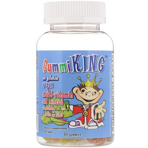 GummiKing, Multi-Vitamin and Mineral, Vegetables, Fruits and Fiber, For Kids, 60 Gummies فوائد
