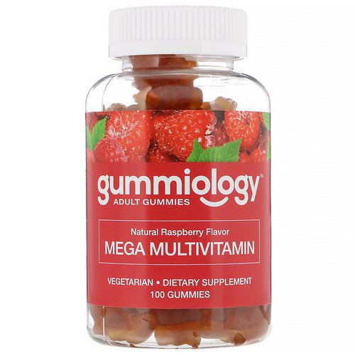 Gummiology, Adult Mega Multivitamins Gummies, Natural Raspberry Flavor, 100 Vegetarian Gummies فوائد