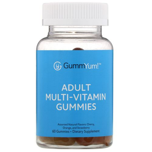 GummYum! Adult Multi-Vitamin Gummies, Assorted Natural Flavors, 60 Gummies فوائد