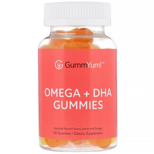 GummYum! Omega + DHA Gummies, Assorted Natural Flavors, 60 Gummies فوائد