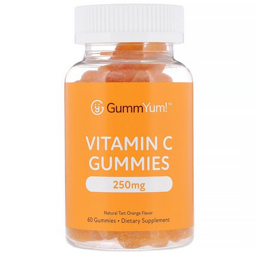 GummYum! Vitamin C Gummies, Natural Tart Orange Flavor, 125 mg, 60 Gummies فوائد