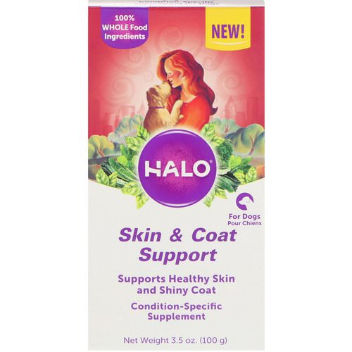 Halo, Skin & Coat Support, For Dogs, 3.5 oz (100 g) فوائد