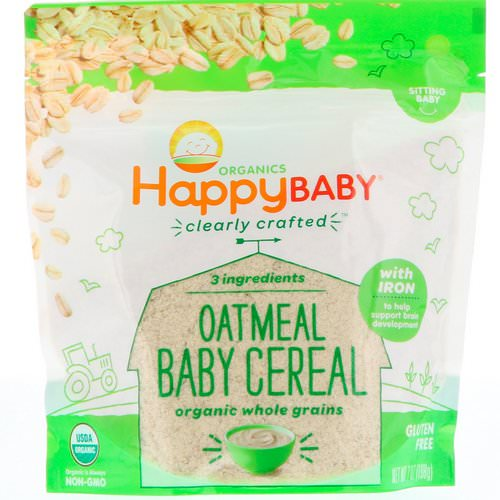Happy Family Organics, Clearly Crafted, Oatmeal Baby Cereal, 7 oz (198 g) فوائد