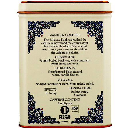 Harney & Sons, HT Tea Blend, Vanilla Comoro Tea, 20 Tea Sachets, 1.4 oz (40 g):شاي أس,د ,شاي سيلان