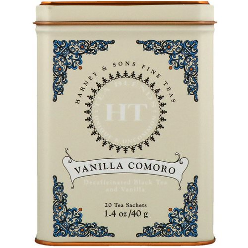 Harney & Sons, HT Tea Blend, Vanilla Comoro Tea, 20 Tea Sachets, 1.4 oz (40 g) فوائد