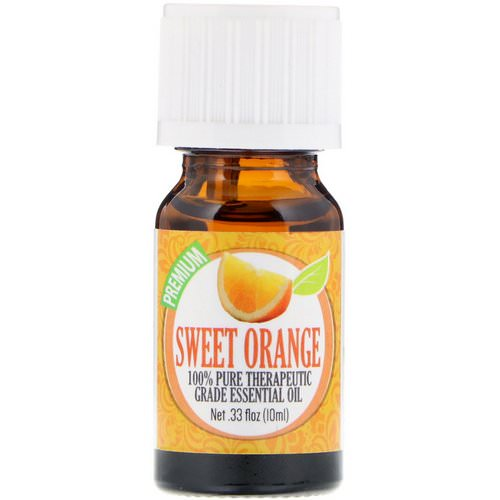 Healing Solutions, 100% Pure Therapeutic Grade Essential Oil, Sweet Orange, 0.33 fl oz (10 ml) فوائد