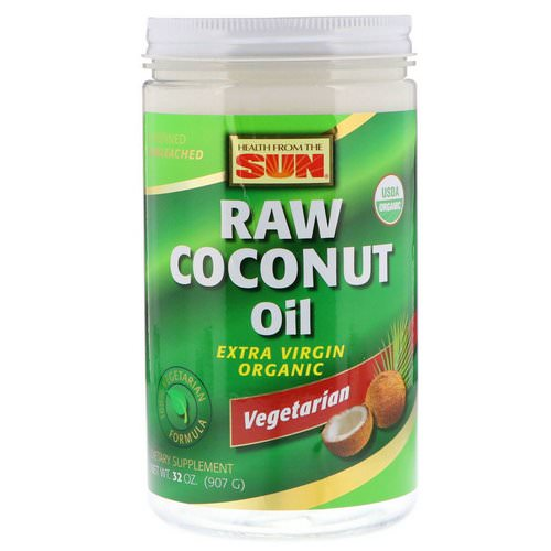Health From The Sun, Raw Coconut Oil, 32 oz (907 g) فوائد