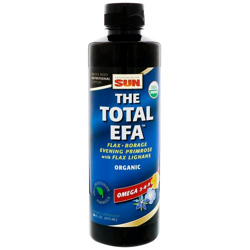 Health From The Sun, The Total EFA, Omega 3-6-9, 16 fl oz (473 ml) فوائد