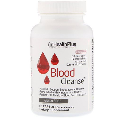 Health Plus, Blood Cleanse, 753 mg, 90 Capsules فوائد