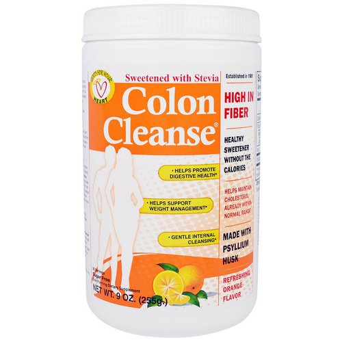 Health Plus, Colon Cleanse, Sweetened with Stevia, Refreshing Orange Flavor, 9 oz (255 g) فوائد