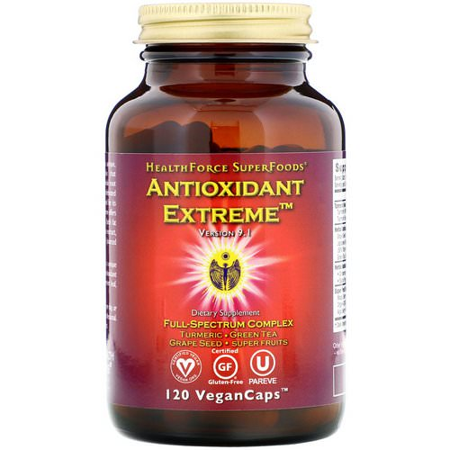 HealthForce Superfoods, Antioxidant Extreme, Version 8, 120 VeganCaps فوائد