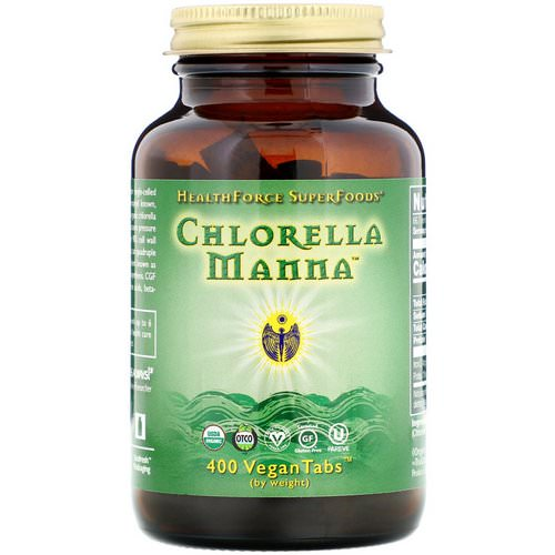 HealthForce Superfoods, Chlorella Manna, 400 VeganTabs فوائد