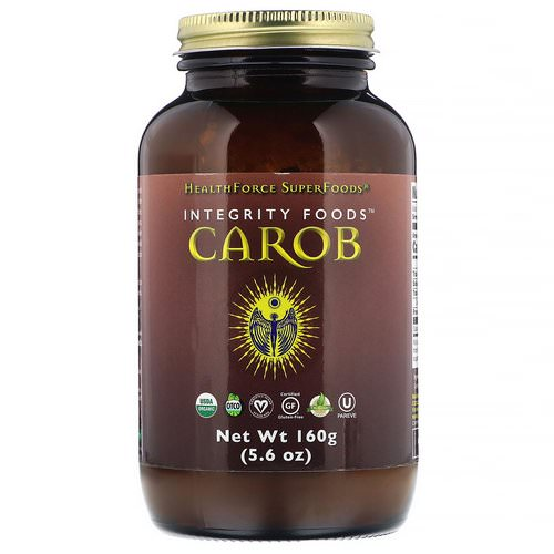 HealthForce Superfoods, Integrity Foods, Carob, 5.6 oz (160 g) فوائد