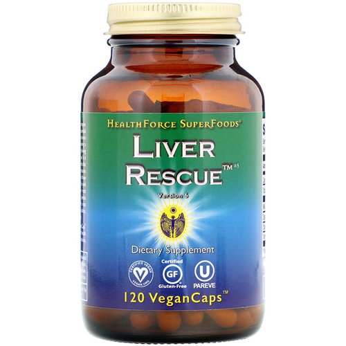 HealthForce Superfoods, Liver Rescue, Version 6, 120 Vegan Caps فوائد