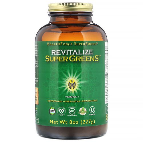 HealthForce Superfoods, Revitalize Super Greens, 8 oz (227 g) فوائد