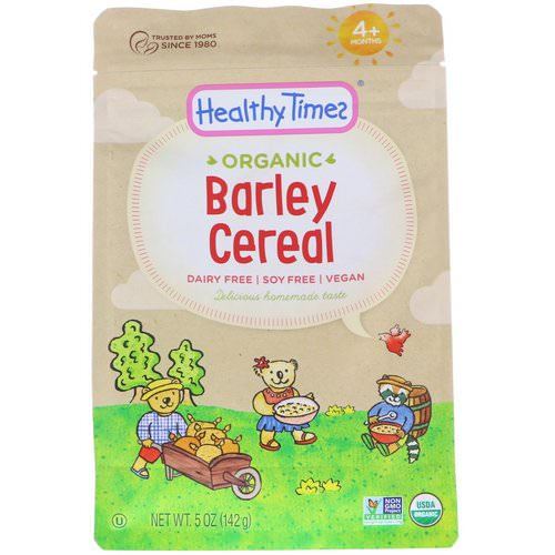 Healthy Times, Organic, Barley Cereal, 4+ Months, 5 oz (142 g) فوائد