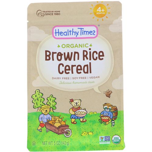Healthy Times, Organic, Brown Rice Cereal, 4+ Months, 5 oz (142 g) فوائد
