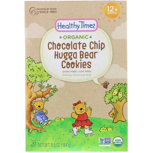 Healthy Times, Organic, Hugga Bear Cookies, Chocolate Chip, 12+ Months, 6.5 oz (184 g) فوائد