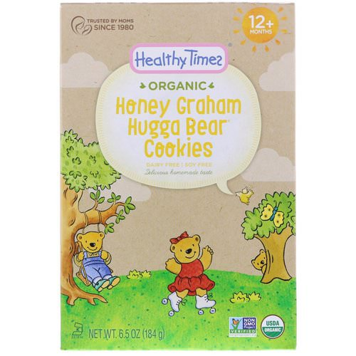 Healthy Times, Organic, Hugga Bear Cookies, Honey Graham, 12+ Months, 6.5 oz (184 g) فوائد