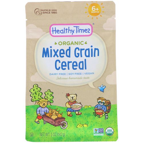 Healthy Times, Organic, Mixed Grain Cereal, 6+ Months, 5 oz (142 g) فوائد