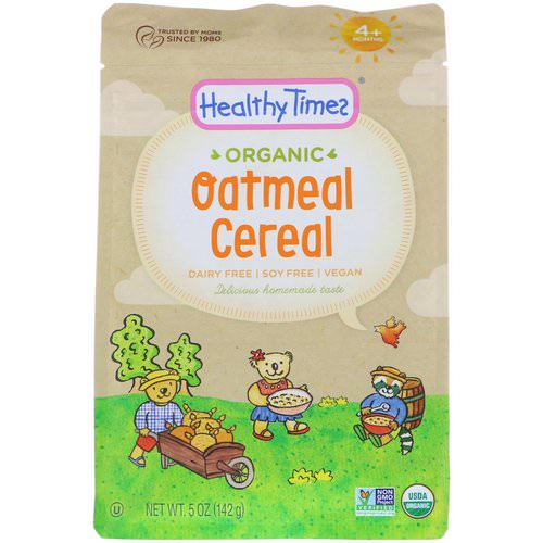 Healthy Times, Organic, Oatmeal Cereal, 4+ Months, 5 oz (142 g) فوائد