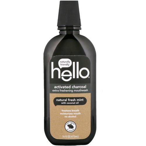 Hello, Activated Charcoal, Extra Freshening Mouthwash, Natural Fresh Mint, 16 fl oz (473 ml) فوائد
