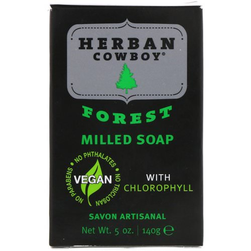 Herban Cowboy, Milled Soap, Forest, 5 oz (140 g) فوائد