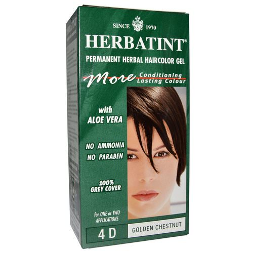Herbatint, Permanent Haircolor Gel, 4D Golden Chestnut, 4.56 fl oz (135 ml) فوائد