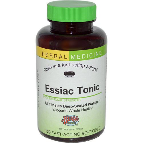 Herbs Etc, Essiac Tonic, Alcohol Free, 120 Fast-Acting Softgels فوائد