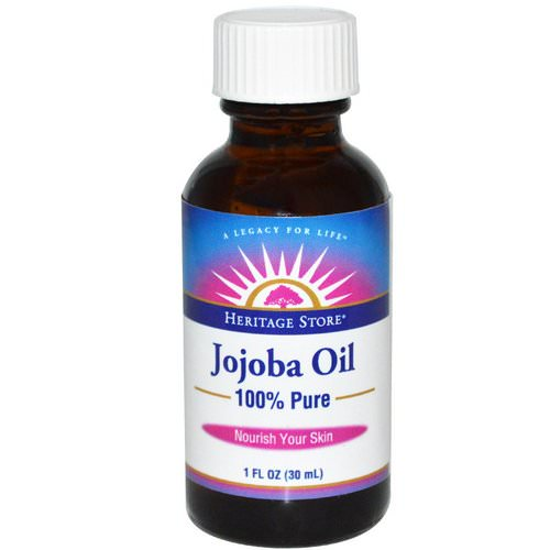 Heritage Store, 100% Pure Jojoba Oil, 1 fl oz (30 ml) فوائد