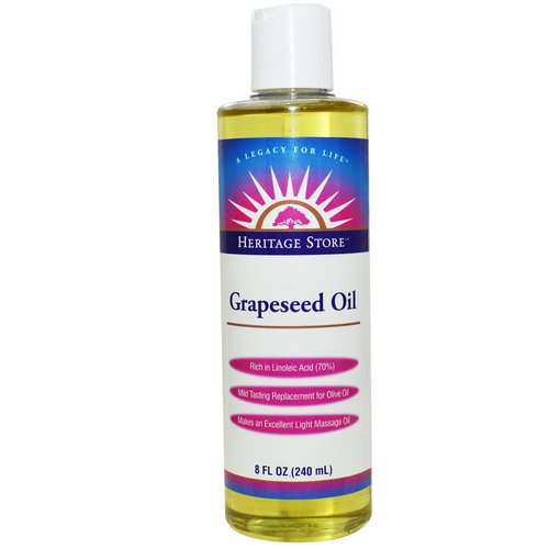 Heritage Store, Grapeseed Oil, 8 fl oz (240 ml) فوائد