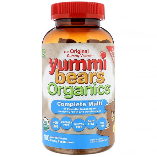 Hero Nutritional Products, Yummi Bears Organics, Complete Multi, Organic Strawberry, Orange and Pineapple, 180 Yummi Bears فوائد