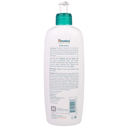 Himalaya, Baby Lotion, Oils of Almond & Olive, 13.53 fl oz (400 ml):مرطب جسم, حمام