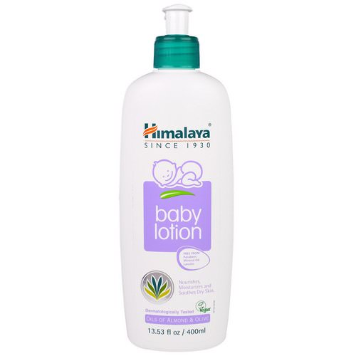 Himalaya, Baby Lotion, Oils of Almond & Olive, 13.53 fl oz (400 ml) فوائد