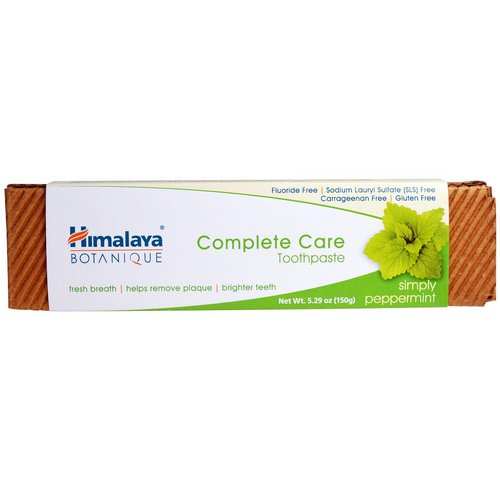 Himalaya, Botanique, Complete Care Toothpaste, Simply Peppermint, 5.29 oz (150 g) فوائد
