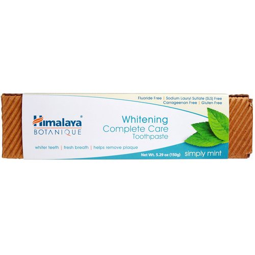 Himalaya, Botanique, Whitening Complete Care Toothpaste, Simply Mint, 5.29 oz (150 g) فوائد