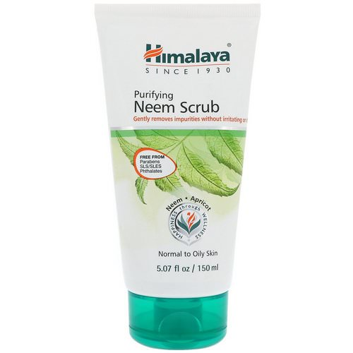Himalaya, Purifying Neem Scrub, Normal to Oily Skin, 5.07 fl oz (150 ml) فوائد