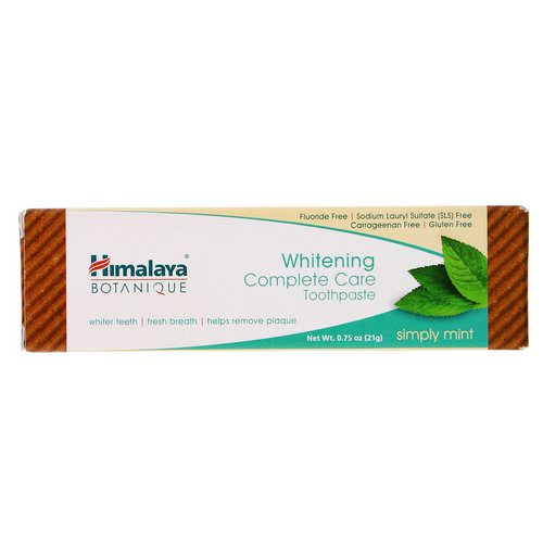 Himalaya, Whitening Mint Travel Toothpaste, Simply Mint, 0.75 oz (21 g) فوائد