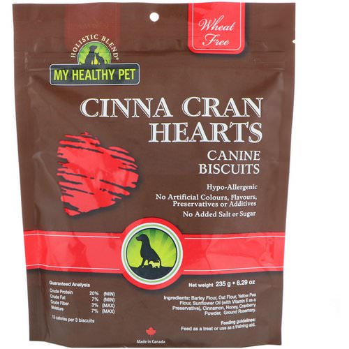 Holistic Blend, My Healthy Pet, Cinna Cran Hearts, Canine Biscuits, 8.29 oz (235 g) فوائد