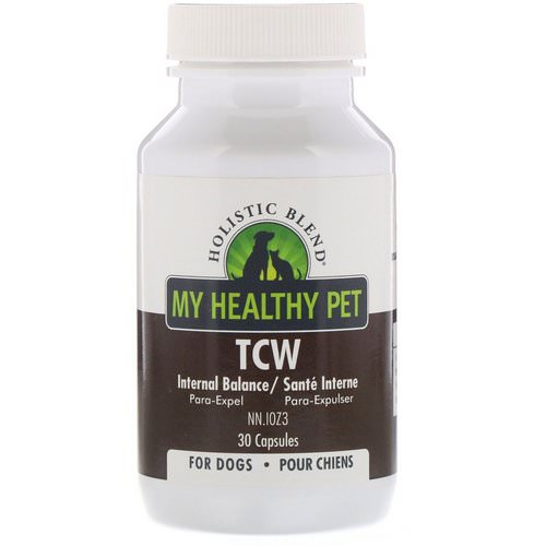 Holistic Blend, My Healthy Pet, TCW, Internal Balance, For Dogs, 30 Capsules فوائد