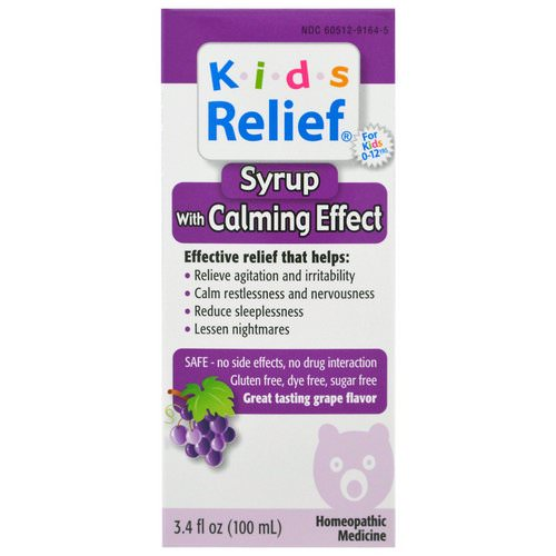 Homeolab USA, Kids Relief, Syrup with Calming Effect, Grape Flavor, 3.4 fl oz (100 ml) فوائد