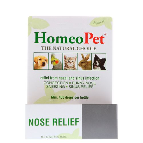 HomeoPet, Nose Relief, 15 ml فوائد