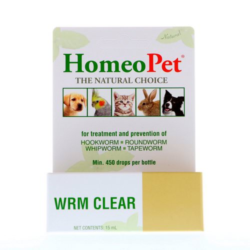 HomeoPet, WRM Clear, 15 ml فوائد