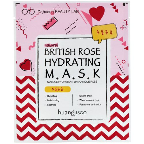 Huangjisoo, British Rose Hydrating Mask, 1 Sheet Mask فوائد