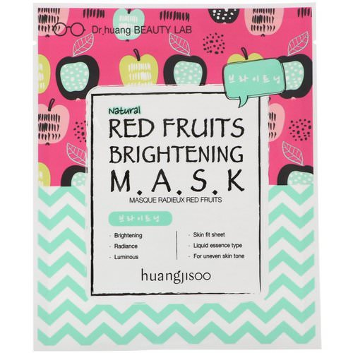 Huangjisoo, Red Fruits Brightening Mask, 1 Sheet Mask فوائد