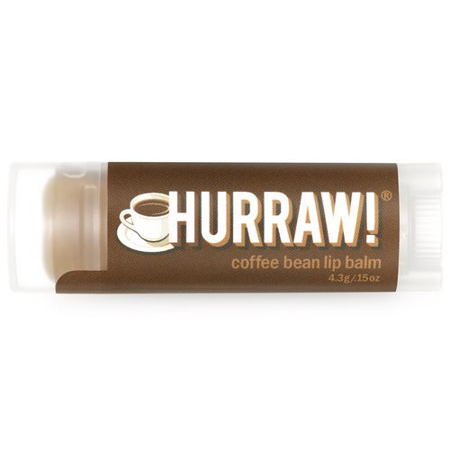 Hurraw! Balm, Lip Balm, Coffee Bean, .15 oz (4.3 g) فوائد