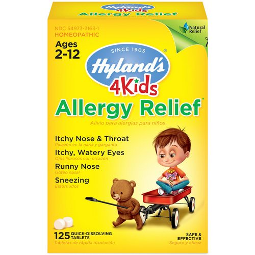 Hyland's, 4 Kids, Allergy Relief, Ages 2-12, 125 Quick-Dissolving Tablets فوائد